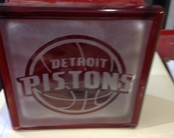 Detroit pistons glass block