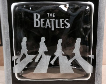 Beatles glass block
