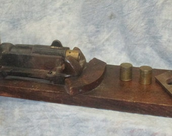 Cast Iron Manual Pill Suppository Press Pharmacy Vintage Apothecary Drugstore