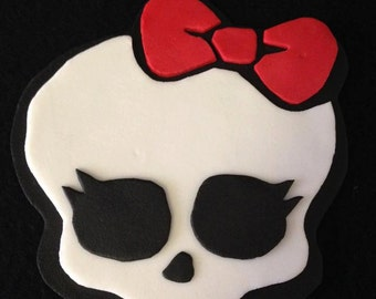 2D Monster high cake topper Fondant  , Birthday Party