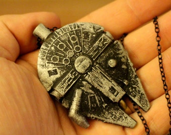 Star Wars inspired Millennium Falcon handmade necklace