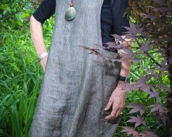 Reverse-Trapeze Linen Tunic