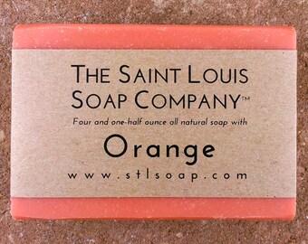 Orange Soap – Vegan Soap, Fragrance Free Soap, All Natural Soap, Hand Made Soap, Morning Soap, Citrus Soap, Essential Oil Soap, Cruelty Free