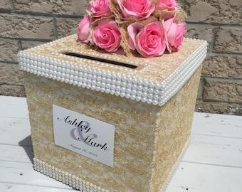 wedding card box/gold card holder/moneybox/wedding money box