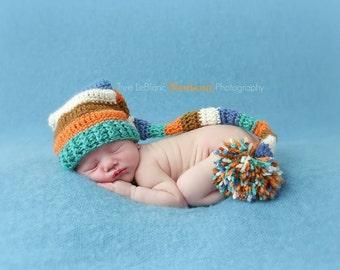 Newborn Elf Hat Long Tail Pixie Hat Pattern - CROCHET PATTERN ONLY - Newborn Prop Hat - Unisex - Crochet Pattern - Prop Pattern