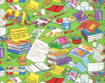 Item # 55513 15 Moda Berenstain Bear Collection Bear Country School. 1/2 Yard Cuts Children's Fabric.