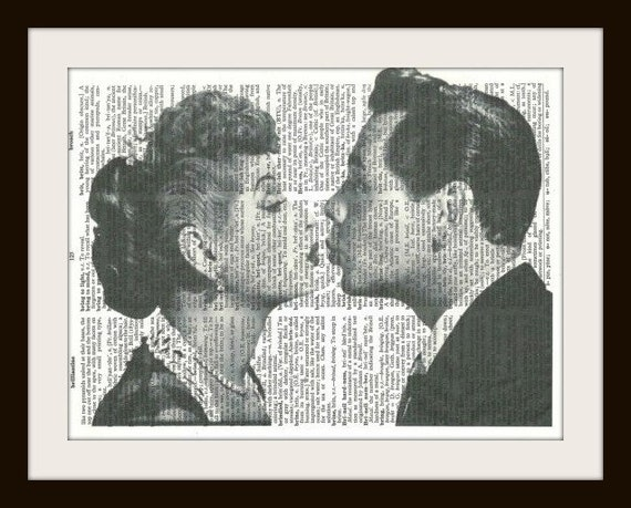 I Love Lucy - Vintage Dictionary Art Print, Home or Office Wall Decor