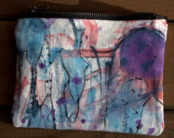 Under the Sea hand made zip wallet