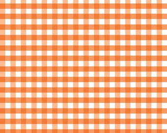 Orange Gingham Medium