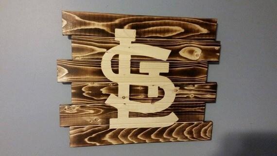 st louis cardinals wall art by carolinapalletdesign on etsy. Black Bedroom Furniture Sets. Home Design Ideas