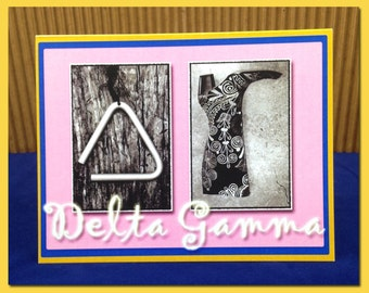 Delta Gamma Stationary Note Card  5.5 x 4.25