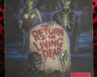 "Return of the Living Dead Back Patch! 11"" X 14.5"" Horror Punk Rockabilly Psychobilly"