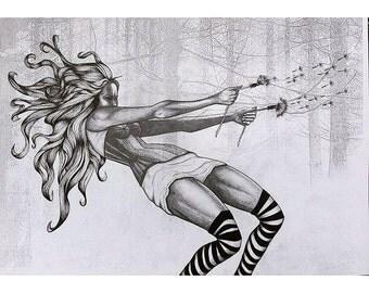 Dandylion - Illustration - Print - Poster Art - A3