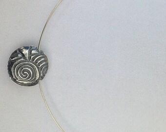 Lentil-style Fine Silver Necklace