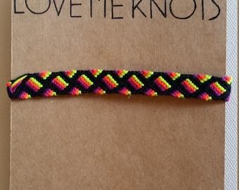 Neon Squares Friendship Bracelet