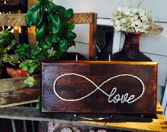 Infinite love string art board