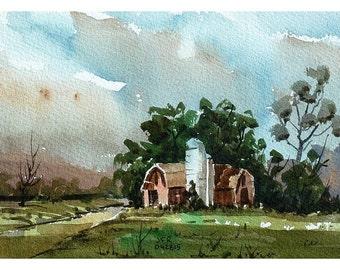Barn, Dryden NY - original watercolor