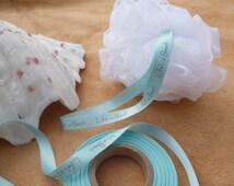 Exfoliating Shower Scrunchie. Shower Puff. Life's a Beach Ribbon
