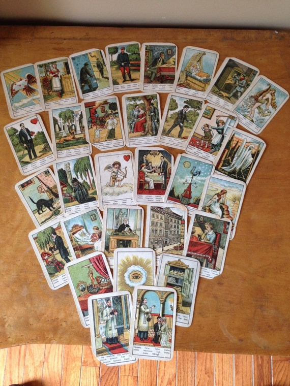 Antique Early 1920s Hungarian Tarot Cards. RARE Free