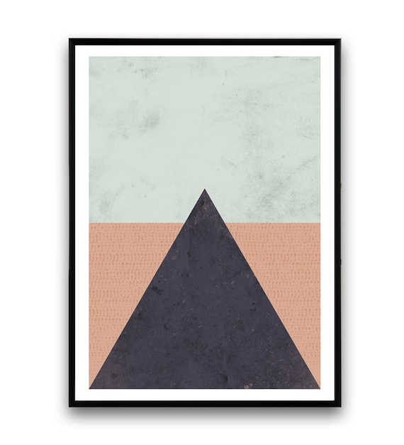 Minimalist print wall art triangle print simple art for Minimalist wall painting