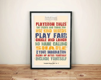 Kids (A) Neutral Playroom Rules