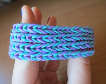 Teal and Purple Fishtail Cuff