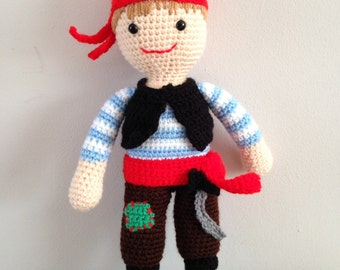 Handmade pirate doll