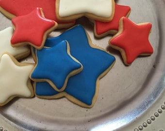 Red White & Blue Star Cookies