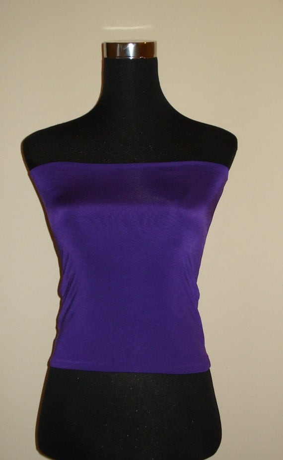 Purple Bandeau Top Boob Tube Crop Top Tube Top For Wear With