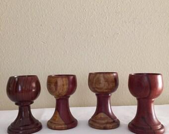 Beautiful Exotic Cocobolo made Decorative Wine Glasses