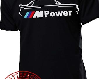 BMW e30 M POWER t shirt m5 m3 m6 e90 e60 e46 e36 e34 e38 x5 x6 t shirt : s - 2xl COOL