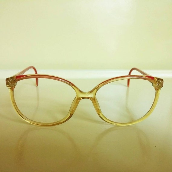 Zeiss Eyeglass Frame : 1980s glasses frames Zeiss West Germany yellow by ...