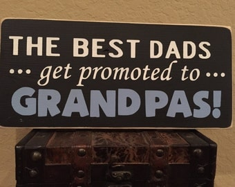Best Dad Wood Sign / Hand painted / Fathers Day Gift / Man Cave/ Dad/ Grandpa / Personalized Sign/ Personalized Fathers Day/ Gift