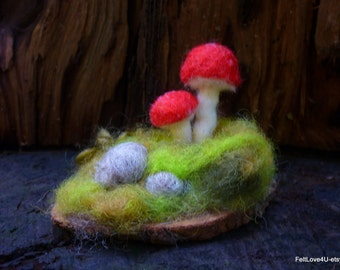 Small Red Toadstool Landscape©