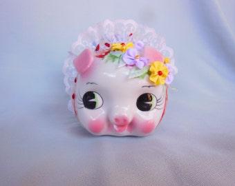 Piggy Bank Ceramic decupag by Nalika Handcrafte