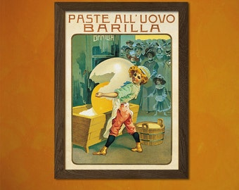 Italian Pasta Advertising Print - Food Poster Kitchen Decor Pasta Poster Kitchen Wall Art