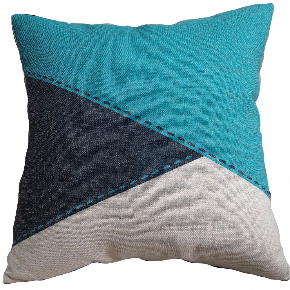 Decorative throw pillows geometric pillow cover by homedecoryi for Throw pillow covers