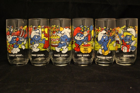 Smurf Glasses from 1983