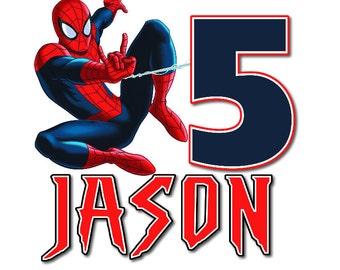 Spiderman 3A Personalized birthday Tshirt Shirt