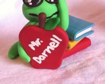 Polymer Clay Bookworm