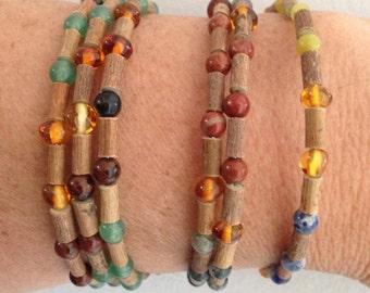 Hazelwood Amber and Gemstone Bracelet