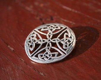 Celtic brooch - shawl pin - cloak pin - Medieval jewelry- Viking SCA sterling silver brooch - Elven brooch- Medieval Viking SCA brooch