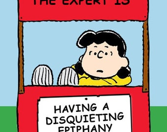 Magnet of Lucy, Peanuts cartoon