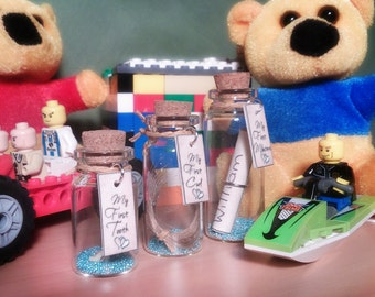 Baby Boy Keepsake, 1st Tooth, 1st Curl, 1st Milestones, Message In A Bottle