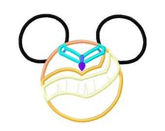 Character Mouse Princess Inspired Poca Native Princess Embroidery Applique Design