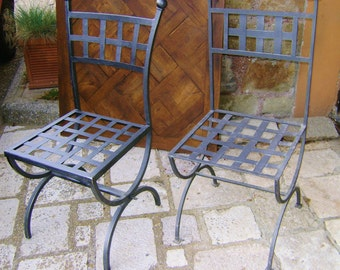 couple iron chairs