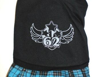 "Pet Clothes Dog Puppy DRESS Skirt BLACK size XXL: Length-15"""