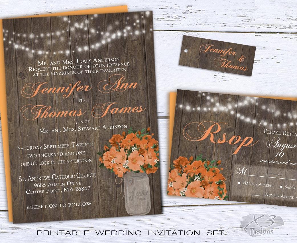 Summer Wedding Invitations: Printable Summer Wedding Invitations Country Wedding By