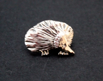 Echidna pin - sterling silver 19mm
