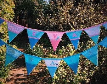 Baby shower bunting/ banner, Personalised bunting, Named bunting, Baby name bunting, Girl's bunting, Baby girl bunting, New baby bunting, Bu